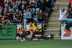 Josh Bassett touchdown (davidhowlett) Tags: ricoharena quins wasps premiership waspsrugby gallagher rugbyunion ricoh rugby coventry harlequins