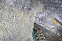 Grafitty (AnotherStepAway) Tags: underground exploring exploration ue urban urbex abandoned forgotten industry lightning industrial ore lightpainting darkness dark below adventure flashlight