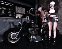 TAKE ME WITH YOU (Rachel Swallows) Tags: biker chopper fashion leather motorbike secondlife sonsofanarchy vtwins