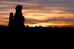 Windows, Arches National Park (aud.watson) Tags: america northamerica us usa utah moab archesnationalpark windows balancerock desert sandstone sand rock canyon canyons fin fins spire spires sunset dusk