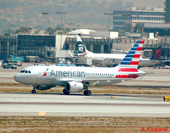 AMERICAN AIRLINES A319 N748UW (Adrian.Kissane) Tags: 1311 americanal lax a319 n748uw 2042016 airliner plane airbus airport outside la usa taxing ramp aircraft