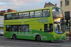 NK62 CKC, Tyne Bridge, Newcastle, September 5th 2016 (Southsea_Matt) Tags: nk62ckc 6063 route21 wright eclipse gemini volvo b5lh goaheadnortheast september 2016 autumn canon 60d sigma 1850mm bus omnibus vehicle transport unitedkingdom tynewear england newcastle tynebridge angel