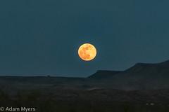 Moonrise over Terlingua Ranch