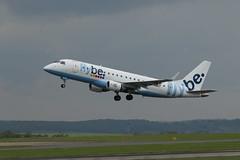 G-FBJD take off. (aitch tee) Tags: e175 embraer flybe gfbjd takeoff aircraftspotting cardiffairport cwlegff maesawyrcaerdydd walesuk