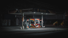 Eagle Gas (Derock.) Tags: canon rebel t5 long exposure nightphotography night photography longexposure gas station philadelphia philly manayunk