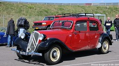 Citroën Traction Avant 11 BL 1951 (XBXG) Tags: 70fk13 citroën traction avant 11 bl 1951 citroëntractionavant tractionavant ta 11bl 11b légère red rood rouge nationaal oldtimer festival 2019 nationaaloldtimerfestival carshow circuit zandvoort nederland holland netherlands paysbas vintage old classic french car auto automobile voiture ancienne française france frankrijk vehicle outdoor