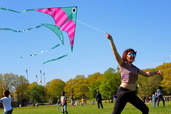 Beautiful and High 1 (Abbie Stoner) Tags: girl woman kite portrait redhead park outside