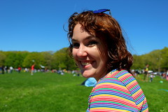 Beautiful and High 20 (Abbie Stoner) Tags: girl woman kite portrait redhead park outside
