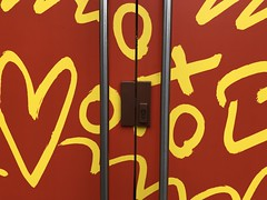 door (Hayashina) Tags: design london yellow red colours door