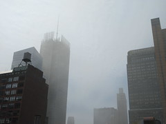 2019 Sunday Morning Hazy Smoke from Fire in Times Square 8813 (Brechtbug) Tags: 2019 sunday morning hazy smoke from fire times square virtual clock tower turned off hells kitchen clinton near broadway nyc 05192019 new york city midtown manhattan spring springtime weather building dark low hanging cumulonimbus cumulus nimbus cloud hell s nemo southern view smells pretty bad