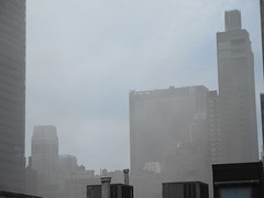 2019 Sunday Morning Hazy Smoke from Fire in Times Square 8804 (Brechtbug) Tags: 2019 sunday morning hazy smoke from fire times square virtual clock tower turned off hells kitchen clinton near broadway nyc 05192019 new york city midtown manhattan spring springtime weather building dark low hanging cumulonimbus cumulus nimbus cloud hell s nemo southern view smells pretty bad