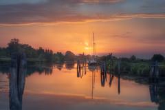 Pink flow (Maurizio Fecchio) Tags: sunrise morning lights landscape water seascape boats reflections haidafilters haidafiltersitalia nikon nature sky clouds d7100 tranquility trees travel
