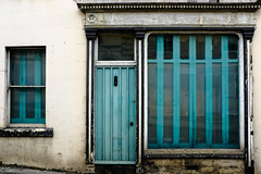 23 (The Green Album) Tags: beauty decay derelict colour cyan lines house shutters boa wiltshire