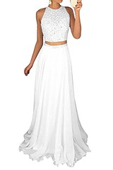 White 2 Piece Prom Dress Shop Now   Prom Dress Hut (promdressesjvn) Tags: jovani prom dress pageant dresses sexy night gown uk
