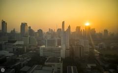 Good morning Bangkok [TH] (ta92310) Tags: asie asia thaïlande thailand travel bangkok canal hiver winter 2019 soleil cityscape architecture building landscape sunrise huawei
