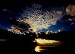 Velvia Te Anau  (MF Velvia 100) (Harald Philipp) Tags: sunset newzealand teanau fiordland clouds lake mountains pentax645 mediumformat smc dusk dramatic nature landscape crepuscular 645 pentax645n sky blue water goldenhour
