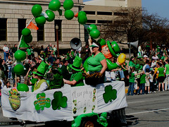 Looks like the balloon character had too much green beer. (kennethkonica) Tags: irish usa men green balloons women sweaters indianapolis fat hats parades indiana jeans elderly tshirts shamrocks floats fourleafclovers seniorcitizens stpatrickday