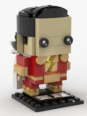 Lego Shazam! custom brickhead (KaijuWorld) Tags: lego moc custom brickheadz dc shazam superhero light brick lightning bolt comics ldd