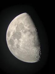 Half moon (LRW3) Tags: nighttime astronomy iphone halfmoon night moon
