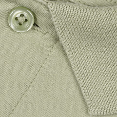 Buttoned-up and minty -[ HMM ]- (Carbon Arc) Tags: macromondays pastel green shirt polo golf button cloth placket collar texture color colour weave cotton fabric macro