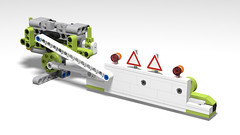 Sickle Mower for Claas Xerion on Stud.io (RS 1990) Tags: lego technic studio moc oc sicklemower claas xerion tractor implement mower povray 3d rendering model