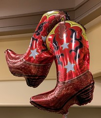 These Boots Are Made for Walking (markshephard800) Tags: shiny glossy star art balloons boots usa texas