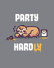 Party hardly (randyotter) Tags: art design illustration illustrator randyotter cute funny drawing arty wacom digitalart