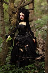 Gabriella (Mdame Follow-the-Wind) Tags: gabriella nyxdollkatrina iplehouse bjd doll abjd vampire followthewind forest outside