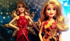 DSC_3272 (Colombanette) Tags: barbie noel rouge gold doré red doll poupee