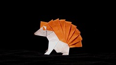 Hedgehog (guangxu233) Tags: art paper fold paperart paperfolding hedgehog handmade animal origami origamiart 折纸 摺紙 折り紙 折り紙作品