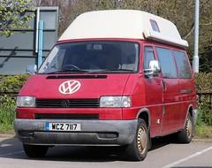 WCZ 7117 (Nivek.Old.Gold) Tags: 1996 volkswagen transporter 1200 d lwb camper 2370cc t4