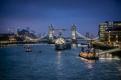 River Thames (Dannis van der Heiden) Tags: thames river london hmsbelfast towerbridge ship boat water building londonbridgecitypier pier lights bridge bluehour cityscape city nikond750 d750 tamron70210mmf4 england uk