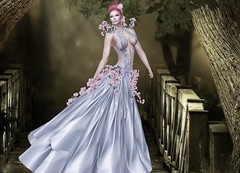 Mila Blauvelt (Mila Blauvelt) Tags: milablauvelt model avatar virtual secondlife shopping sl style gown appliers classicavatar bodymesh flowers tiffanydesign elengant silver pink fashion female fashionstyle