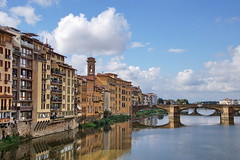 The Arno River (Yuri Rapoport) Tags: thearnoriver bridge pontevecchio 2016 florence toscana tuscany italy