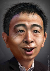 Andrew Yang - Caricature (DonkeyHotey) Tags: andrewyang entrepreneur democrat 2020 ubi donkeyhotey photoshop caricature cartoon face politics political photo manipulation photomanipulation commentary politicalcommentary campaign politician caricatura karikatuur karikatur