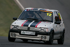 Classic Stock Hatch - Peugeot 205 GTi ({House} Photography) Tags: 750 motor club classic stock hatch championship hot racing race motorsport sport car automotive brands uk kent fawkham track indy circuit housephotography timothyhouse canon 70d sigma 150600 contemporary peugeot 205 gti french