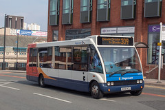 Stagecoach MX58HCJ (Mike McNiven) Tags: stagecoach manchester saintpeterssquare stockport cheadle cheadlevillage optare solo circular
