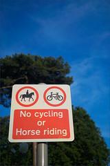 Spoilsports (meniscuslens) Tags: tree sky sign signpost buckinghamshire aylesbury cheddington
