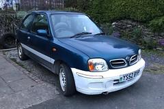 (Sam Tait) Tags: white blue bumper panel odd 2002 k11 march micra nissan