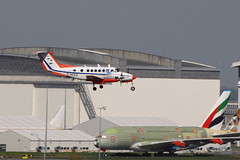 F-HCEV Beech 200 King Air (eigjb) Tags: toulouse blagnac airport 2019 plane spotting aviation aircraft airplane aeroplane avion transport lfbo france fhcev beechceaft beech200 be20 turboprop a390 emirates airliner dgac