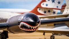 Decorated wing tank on military jet (Jeffrey Balfus (thx for 5.5M views)) Tags: pimaair tucson az us sonya7iii ilce7m3 fe24240mmf3563oss sel24240 militaryjets militaryaircraft