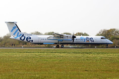 G-ECOE Bombardier Dash 8Q-402 FlyBe Airlines MAN 15APR19 (Ken Fielding) Tags: gecoe bombardier dash8q402 aircraft airplane airliner jetprop turboprop regional commuter