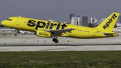 N616NK_FLL_Takeoff_28L (MAB757200) Tags: spiritairlines a320232 n616nk aircraft airplane airlines airbus airport jetliner fll kfll takeoff runway27l
