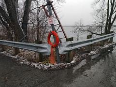 (geowelch) Tags: toronto lakeshore rain overcast safetyrails rescue lakeontario baretrees winter urbanlandscape newtopographics panasoniclumixgx1 panasoniclumixgvario1232mm3556 lifepreserver