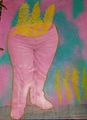 Feather Pants (limerickme) Tags: mixed media art journal