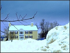 Snow Bank At Night Near The L. Hussier Insurance Auto Home In Chelmsford, MA.- Photo by STEVEN CHATEAUNEUF Taken On February 7, 2015 With Editing Done On April 15, 2019 And April 24, 2019 (snc145) Tags: winter seasons dusk night nighttime sky snow snowbank building trees landscape scenery photo editedimage outdoor chelmsford massachusetts usa february72015 april152019 stevenchateauneuf flickrunitedaward vividstriking arealgem lhussierinsuranceautohome