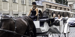 Around Prague (3) (norm_p) Tags: prague praha czechrepublic streetphotography candid ponygirl carriage horse
