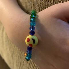 Emoji Rainbow stretch bracelet (occultspirits) Tags: emoji stretch bracelet beaded rainbow