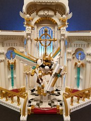 Battle Angel Ariadne's Sanctuary: Main (PlasticPauper) Tags: lego toy diorama heaven god angel archangel smite paladin church cathedral altar holy battle gothic architecture interior macro mosaic nave sanctuary gold alabaster moc
