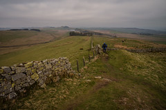Walking the wall..... (Dafydd Penguin) Tags: fields dry stone national trail moorland moor hadrians wall monument ancient historic roman trk walk ramble rambling back packing walking landscape clouds uk green leica m10 15mm voigtlander super wide heliar f45